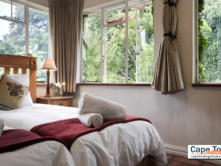 Closeup of the super comfortable beds