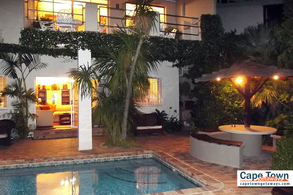 Bluegum Hill Cape Town Sea View Guesthouse Poolside At Night