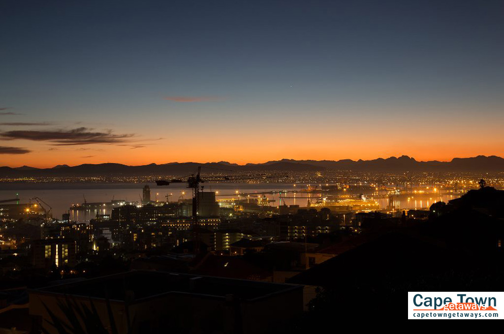 Bluegum Hill Guesthouse View of the Cape Town City Lights