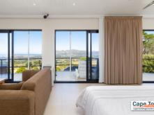 Bedroom overlooking mountain views