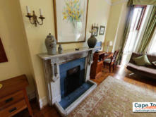 Carmichael Guesthouse Luxury Cape Town Accommodation luxury triple room Victorian fireplace