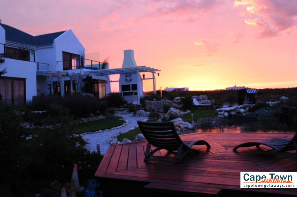 Farr Out Guesthouse Paternoster sunset deck