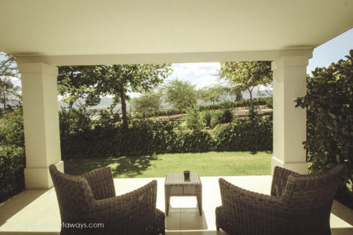 Tranquil patios to relax