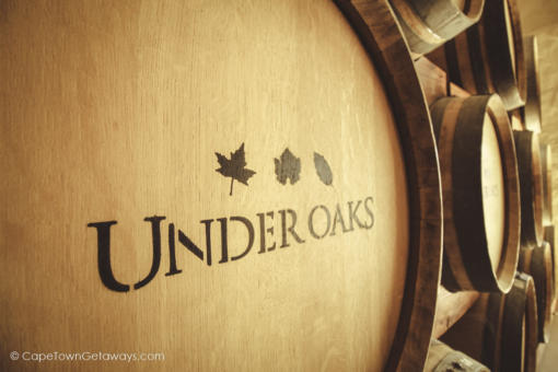 Under Oaks wine barrel