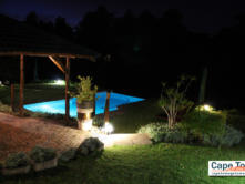 Guesthouse Knysna Pool at night