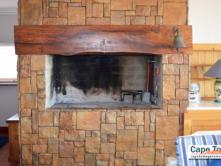 Lamberts Bay Self-Catering inside braai fireplace