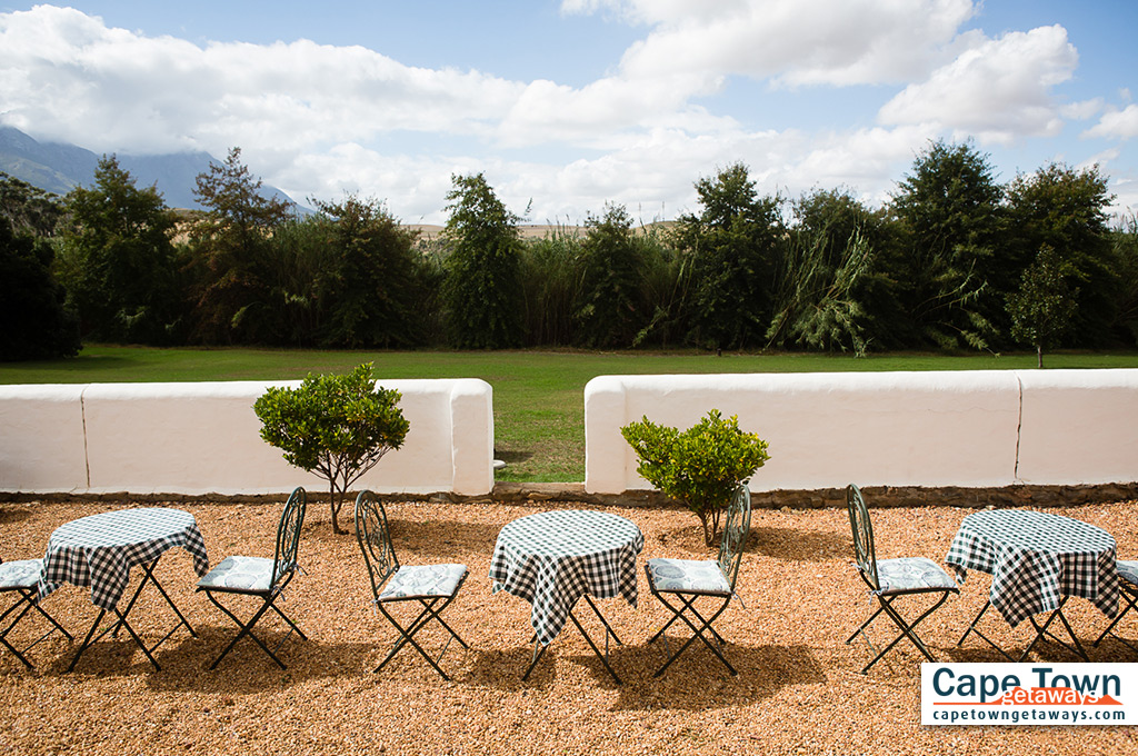 Seating area outside guest house