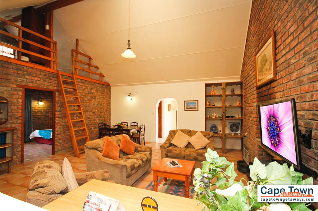 Downstairs lounge with plasma TV