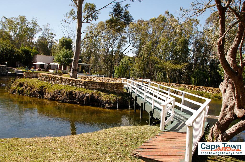 Bridge leading to lodge