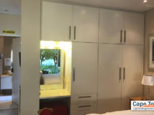 Extensive cupboards with private bathroom in bedroom