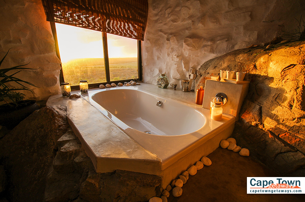 Spacious bathtub and beautiful views from window