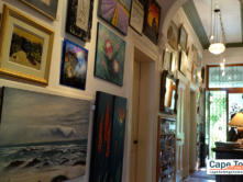 Aisle with beautiful paintings