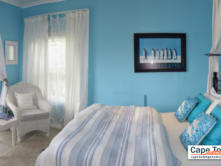 Blue ocean suite side-view of bedroom