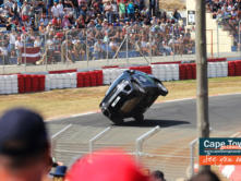 Terry Grant the stunt driver kept visitors entertained too!