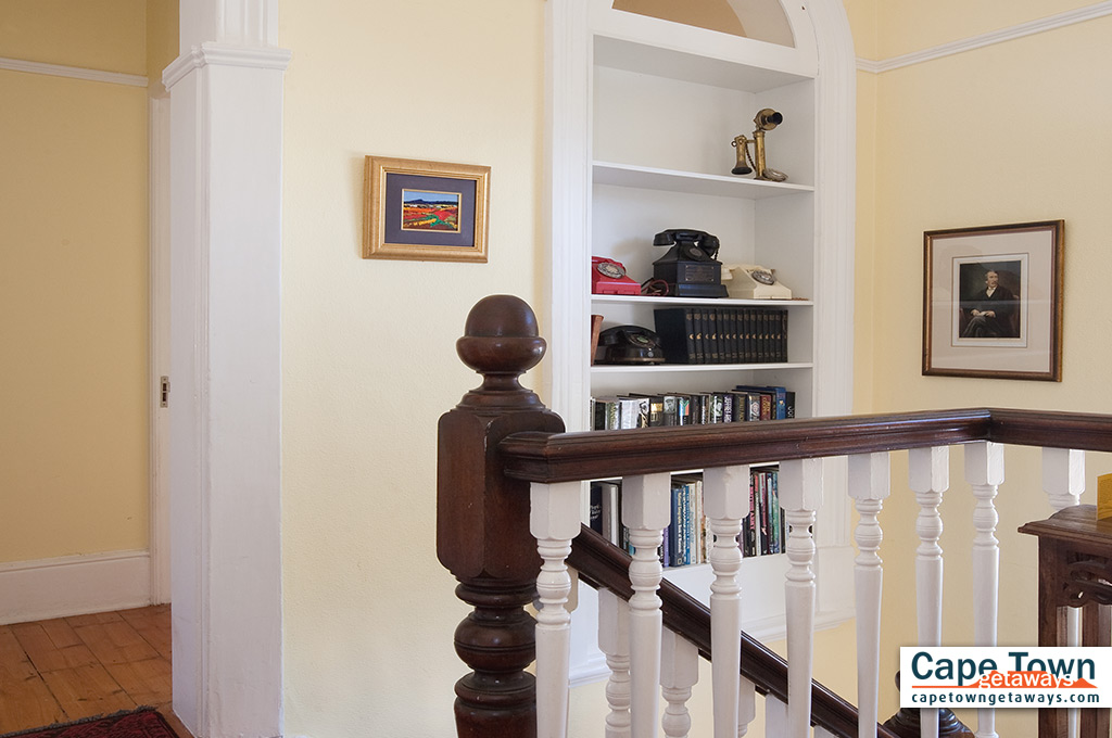 Staircase and book collection