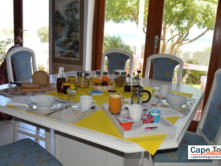 A typical B2 overnighter BnB breakfast spread - freshly baked bread in the oven!