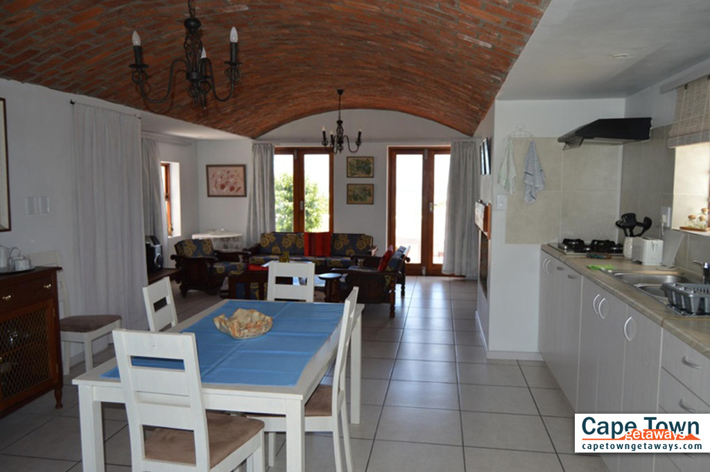 Self Cater living, dining and kitchen area on ground floor