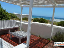 The Self Cater patio - to enjoy the sunshine, fresh air and sea view